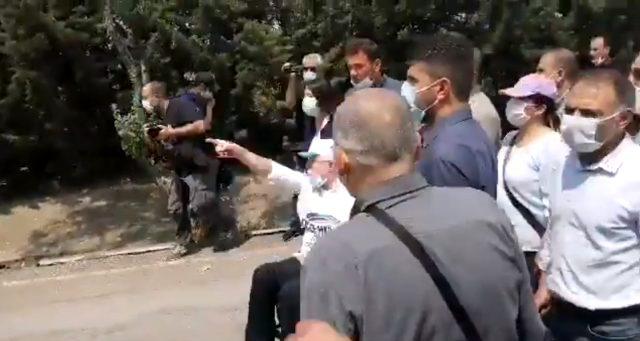 Demokrasi yürüyüşünde ortalık karıştı, HDP'li vekil TOMA'nın önüne geçti