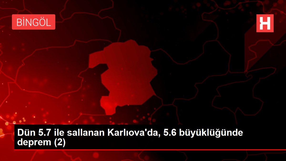 Dün 5.7 ile sallanan Karlıova'da, 5.6 büyüklüğünde deprem (2)