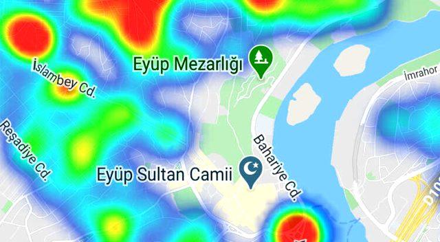 İstanbul'un koronavirüs yoğunluk haritası yayınlandı! İşte en tehlikeli ilçeler