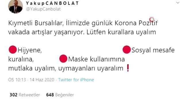 Kastamonu ve Bursa'da koronavirüs vakaları artınca Valilikler'den uyarı geldi