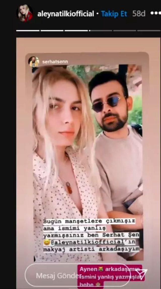 Aleyna Tilki, hakkında çıkan 'Sevgililer tatilde' haberlerine açıklık getirdi