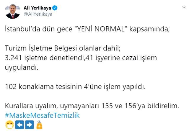 Son Dakika: İstanbul'da koronavirüs tedbirlerine uymayan işletmelere ceza kesildi