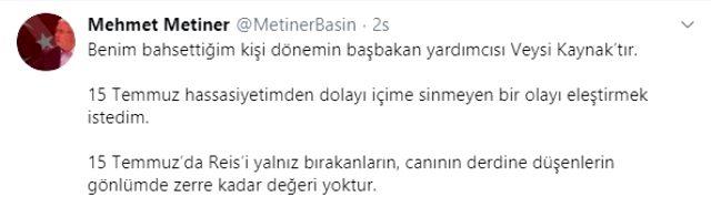 Metiner'den bomba iddia! 15 Temmuz'da Erdoğan'ı yalnız bırakan bakanın ismini verdi