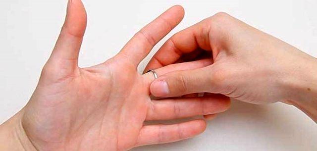 Parmağa sıkışan yüzük nasıl çıkarılır?