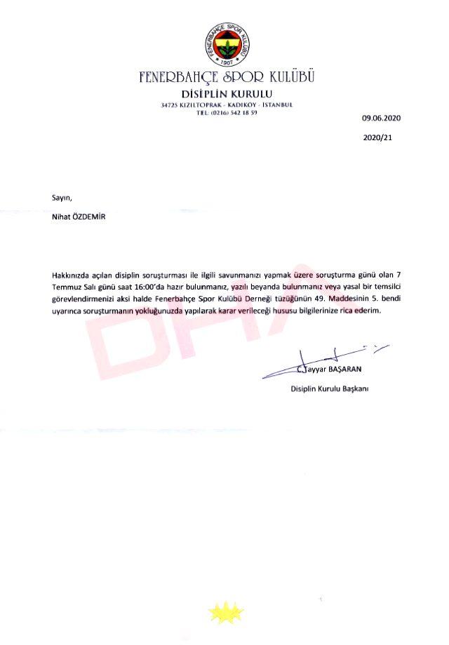 Son Dakika: TFF Başkanı Nihat Özdemir, Fenerbahçe kulüp üyeliğinden istifa etti