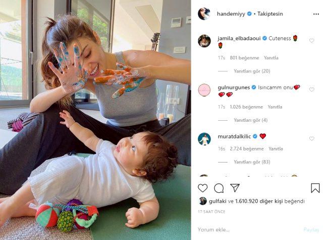Yeğeniyle fotoğrafını paylaşan Hande Erçel'e beğeni yağdı