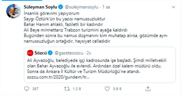 Bakan Soylu'dan, 'Trabzon böyle bir yükseliş görmedi' haberine tepki: Bu yazı namussuzluktur
