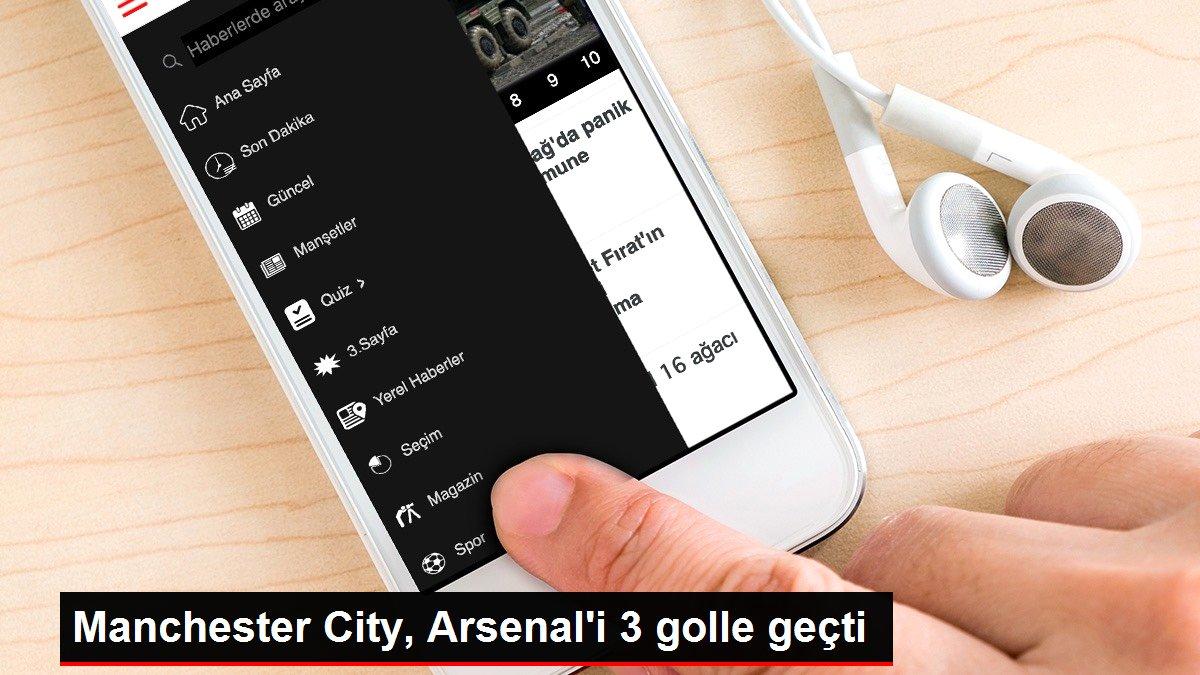 Manchester City, Arsenal'i 3 golle geçti