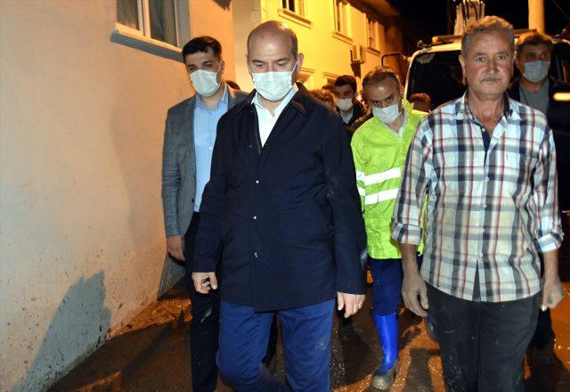 Bursa Kestel'deki sel faciasında ölü sayısı ikiye yükseldi; Bakan Soylu bölgede çalışmaları sürdürüyor