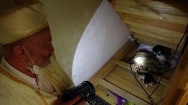Namaz kılarken bir kedi gören imam, minberin altına bakınca olayı anladı