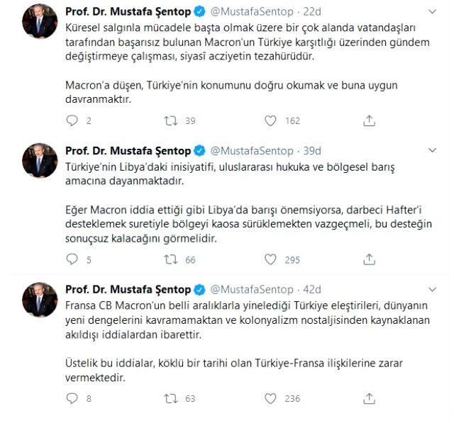TBMM Başkanı Mustafa Şentop'tan Macron'a tepki: Libya'da barışı önemsiyorsa, darbeci Hafter'i desteklemekten vazgeçmeli
