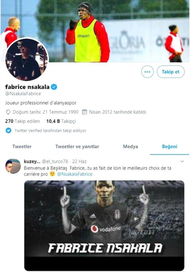 Beşiktaş'la anlaşan Fabrice N'Sakala, siyah-beyazlılardan 750 bin euro maaş alacak