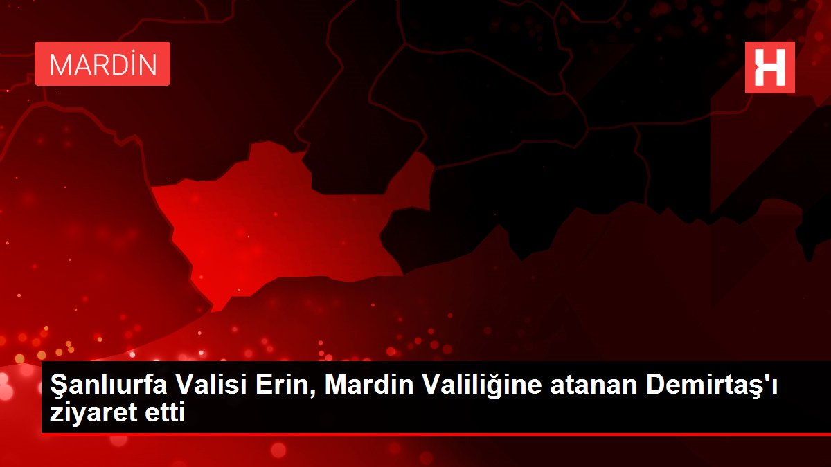 Şanlıurfa Valisi Erin, Mardin Valiliğine atanan Demirtaş'ı ziyaret etti