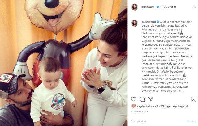 Ailesiyle kaza geçiren Buse Varol, 5 haftalık hamile olduğunun müjdesini verdi