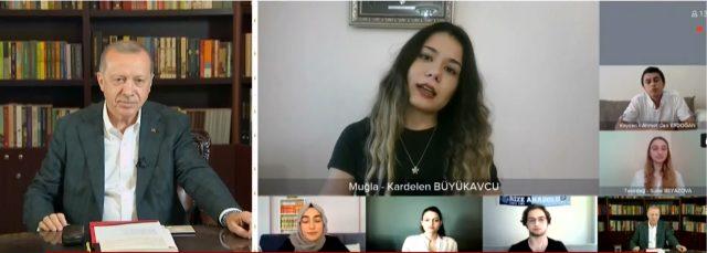 Cumhurbaşkanı Erdoğan'a YKS'ye girecek öğrenciler, sınavın neden öne alındığını sordu