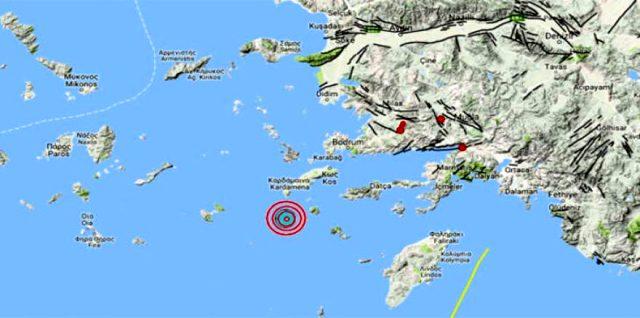 Ege Denizi'nin Datça açıklarında 4,5 büyüklüğünde deprem meydana geldi