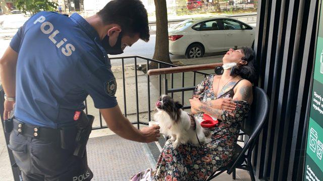İstanbul'un göbeğinde sızan kadın polislere zor anlar yaşattı