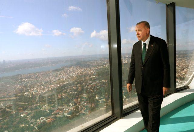 Cumhurbaşkanı Erdoğan, İstanbul'un en yüksek noktasından şehri inceledi