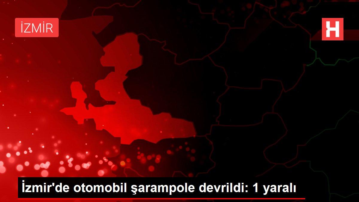 İzmir'de otomobil şarampole devrildi: 1 yaralı