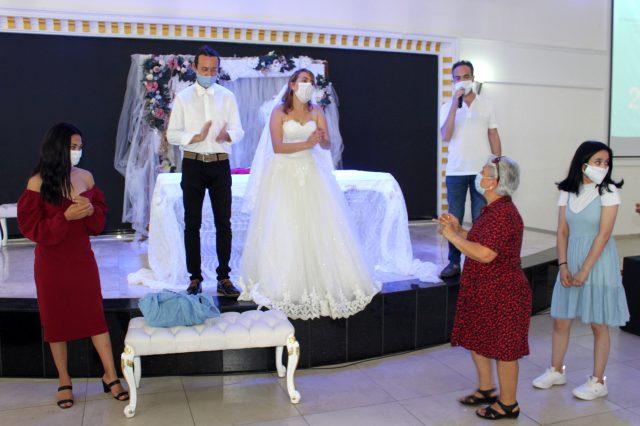 Düğünlerde alınacak önlemler temsili bir düğünle kamuoyuna anlatıldı