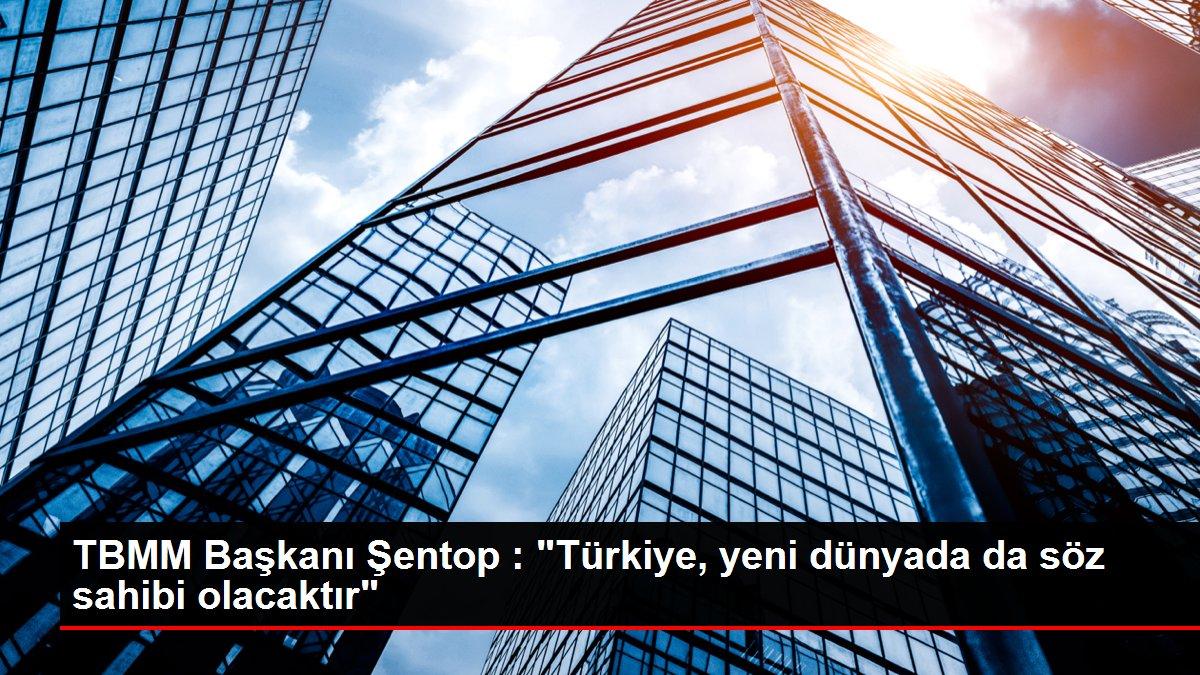 TBMM Başkanı Şentop : 'Türkiye, yeni dünyada da söz sahibi olacaktır'