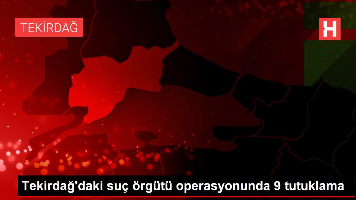 Tekirdağ'daki suç örgütü operasyonunda 9 tutuklama