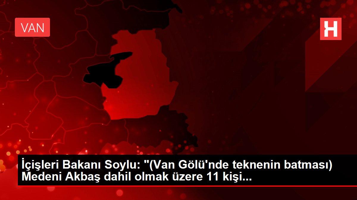 Son dakika güncel: İçişleri Bakanı Soylu: