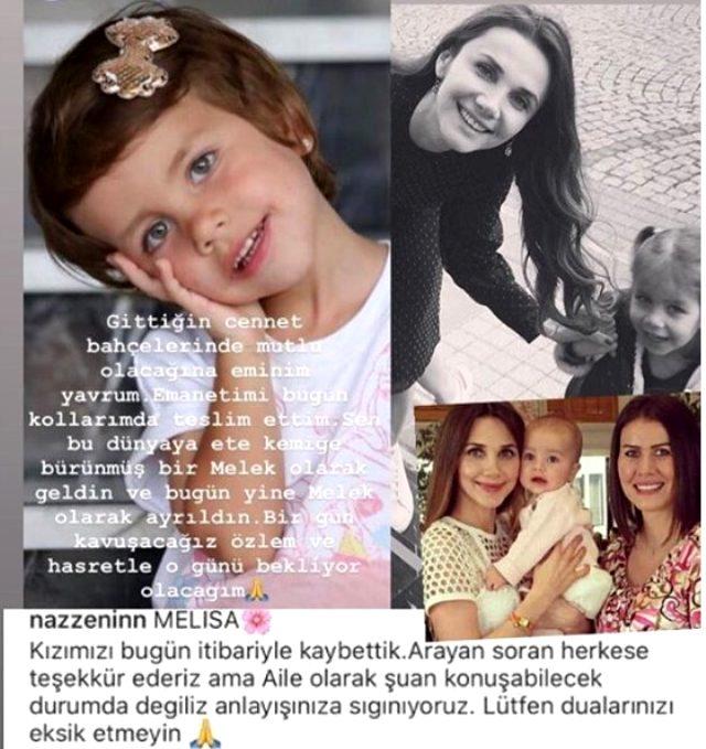 Oyuncu Yasemin Hadivent'in 4 yaşındaki yeğeni hayatını kaybetti
