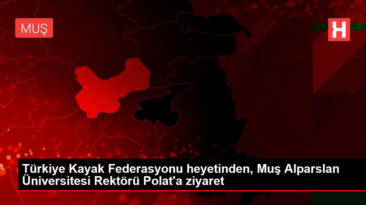 Türkiye Kayak Federasyonu heyetinden, Muş Alparslan Üniversitesi Rektörü Polat'a ziyaret