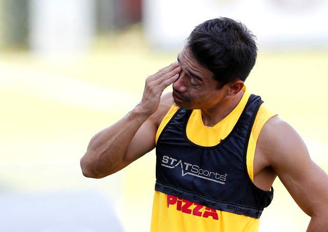 Galatasaray'la sözleşmesi sona eren Nagatomo, son antrenmanda hüngür hüngür ağladı