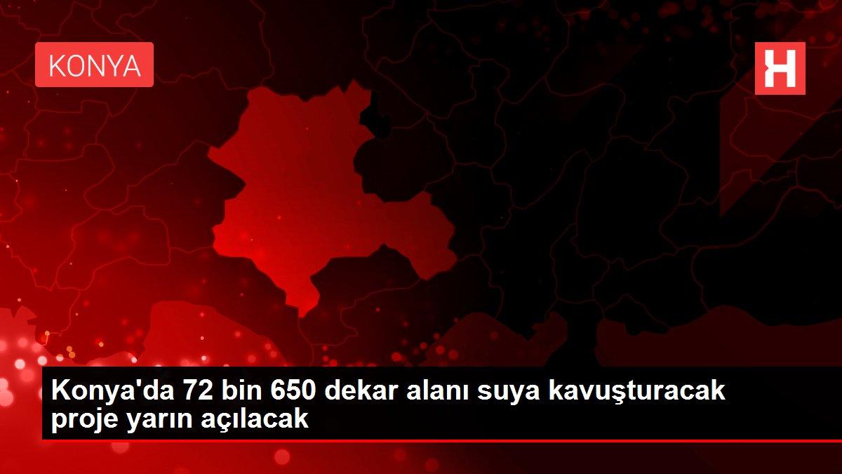 Konya'da 72 bin 650 dekar alanı suya kavuşturacak proje yarın açılacak