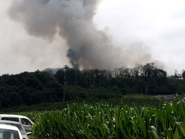 Sakarya'da patlamanın meydana geldiği havai fişek fabrikası havadan görüntülendi