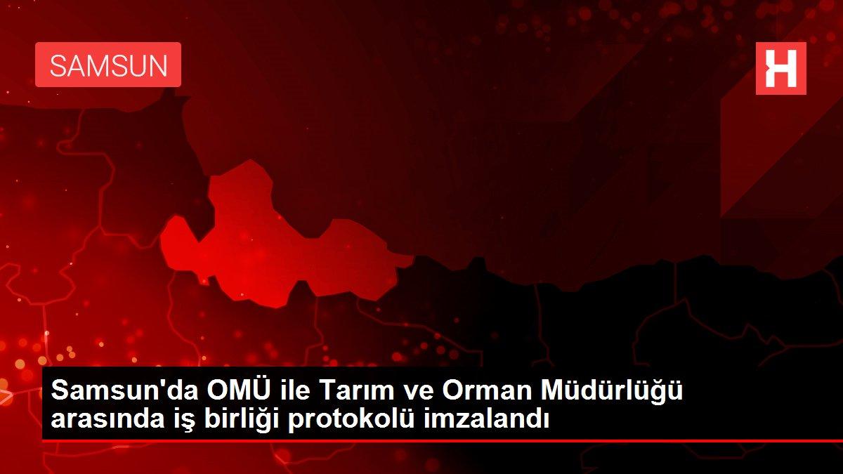 Samsun'da OMÜ ile Tarım ve Orman Müdürlüğü arasında iş birliği protokolü imzalandı
