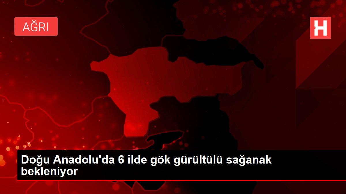 Doğu Anadolu'da 6 ilde gök gürültülü sağanak bekleniyor