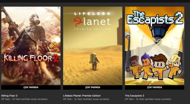 Epic Games ücretsiz oyunları neler? Epic Games Store ücretsiz oyunları