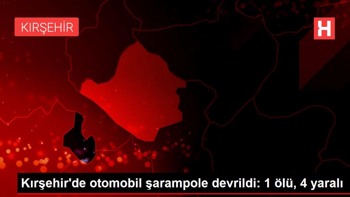 Kırşehir'de otomobil şarampole devrildi: 1 ölü, 4 yaralı