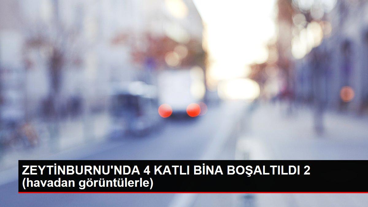 ZEYTİNBURNU'NDA 4 KATLI BİNA BOŞALTILDI 2 (havadan görüntülerle)