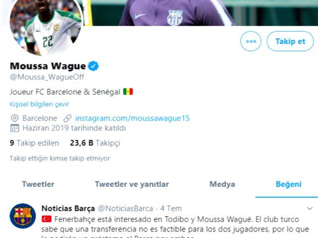 Barcelona'nın genç yıldızı Moussa Wague, Fenerbahçe iddiasının yer aldığı paylaşımı beğendi
