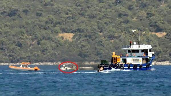 Bodrum'da kaptansız bot korkuttu