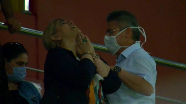 Kayserispor Başkanı Berna Gözbaşı, Beşiktaş maçı sonrası gözyaşlarını tutumadı