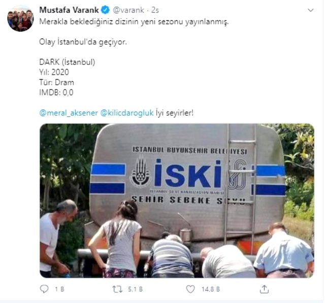 Şile'deki su kuyruğuna tepki! Bakan Varank'tan Akşener ve Kılıçdaroğlu'na gönderme