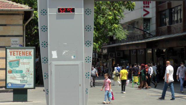 Son 3 günde koronavirüs vakalarının en çok arttığı iller arasında olan kentte termometreler 52 dereceyi gösterdi