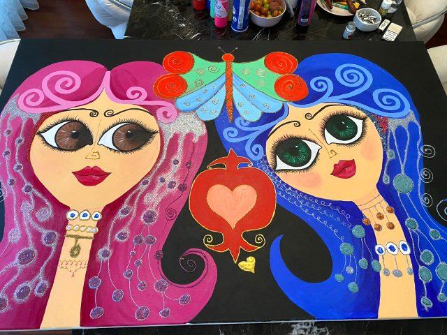 Ünlü ressam Emire Dilara Can yeni sergisi için gün sayıyor.