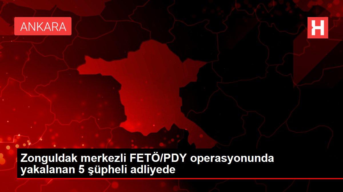 Zonguldak merkezli FETÖ/PDY operasyonunda yakalanan 5 şüpheli adliyede