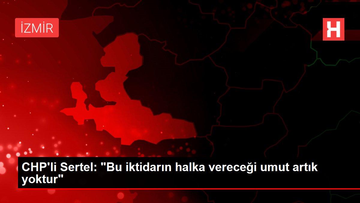 CHP'li Sertel:
