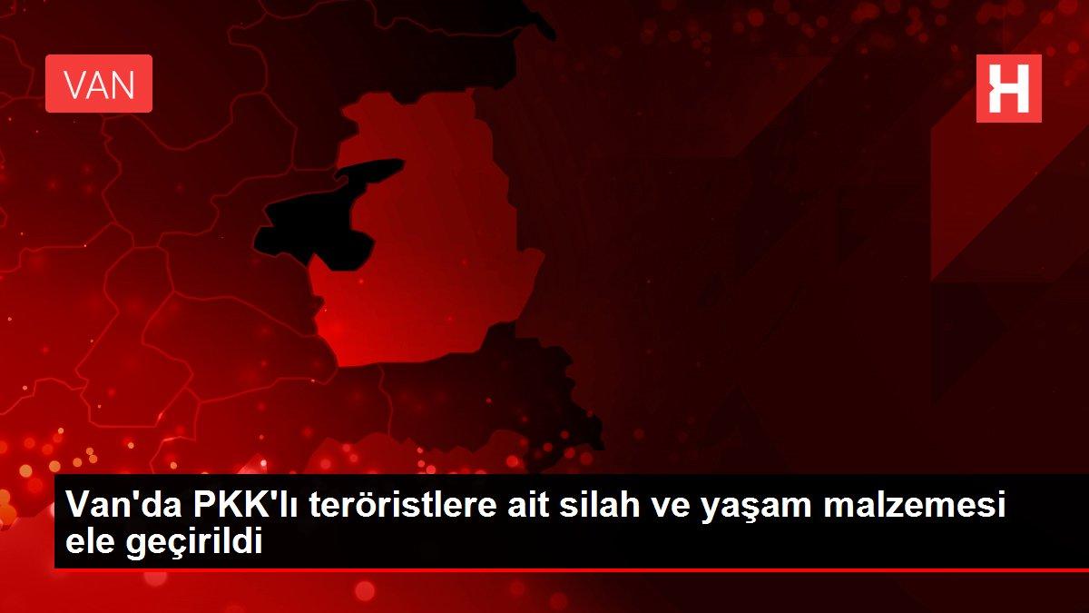 Son dakika! Van'da PKK'lı teröristlere ait silah ve yaşam malzemesi ele geçirildi