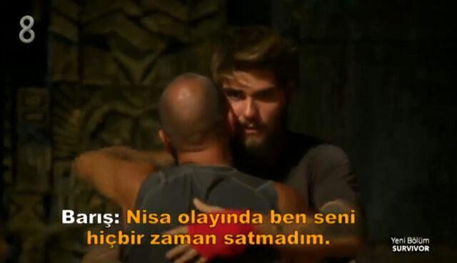 Barış'tan elenen Sercan Yıldırım'a Nisa itirafı: Ben seni hiç satmadım