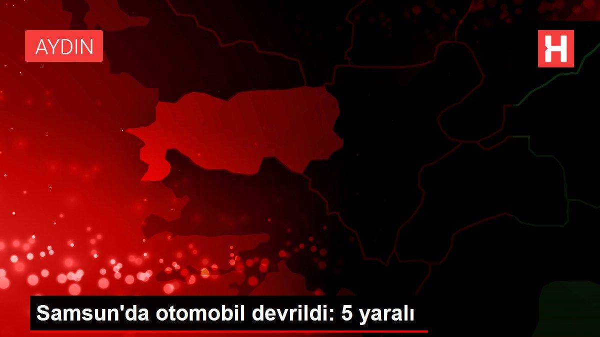 Samsun'da otomobil devrildi: 5 yaralı