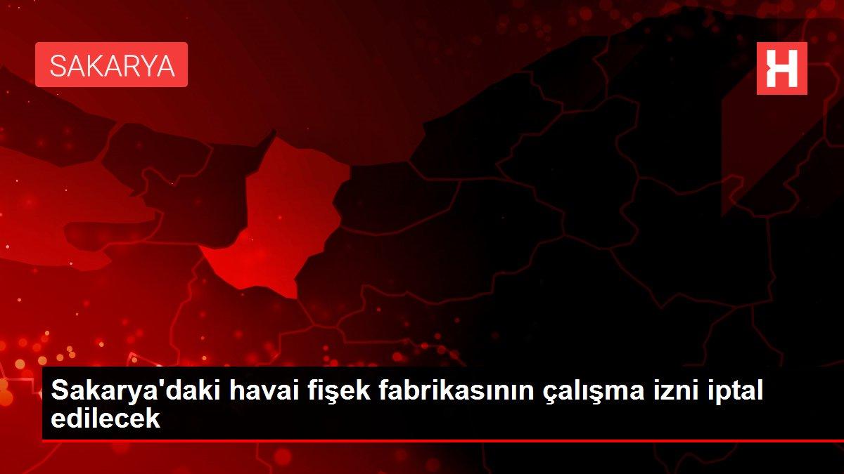 Son dakika haberi: Sakarya'daki havai fişek fabrikasının çalışma izni iptal edilecek