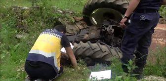Bilecik: Traktör şarampole devrildi: 1 ölü, 1 yaralı
